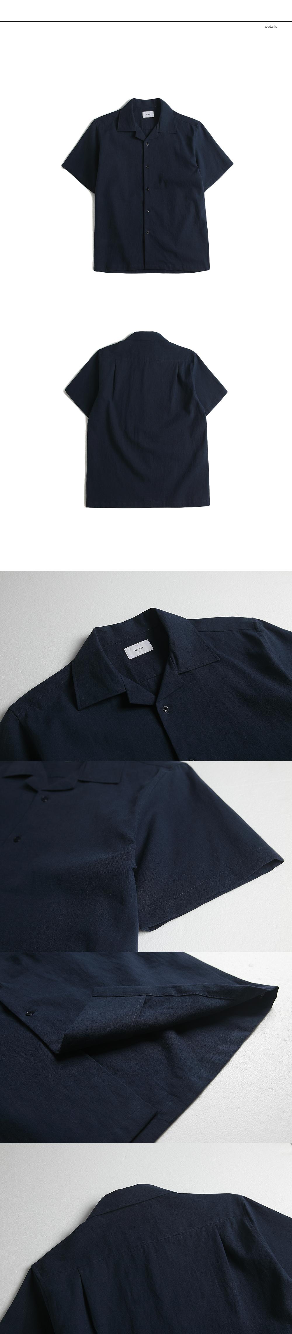 랩12(LAB12) 19S/S 린넨 캠프 셔츠 (네이비)