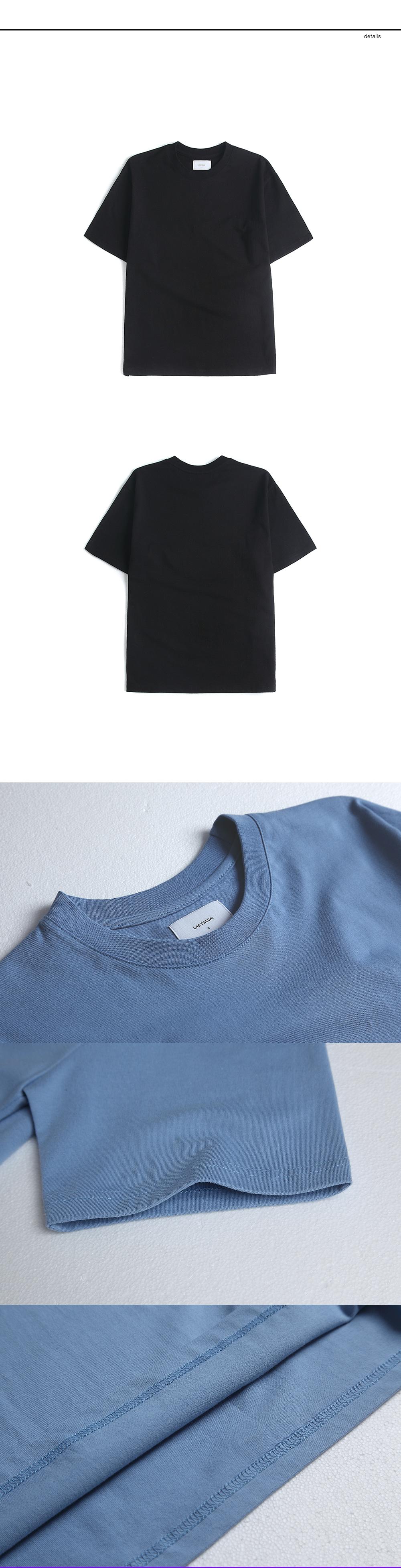 랩12(LAB12) 19S/S 세미 오버핏 티셔츠 (블랙)