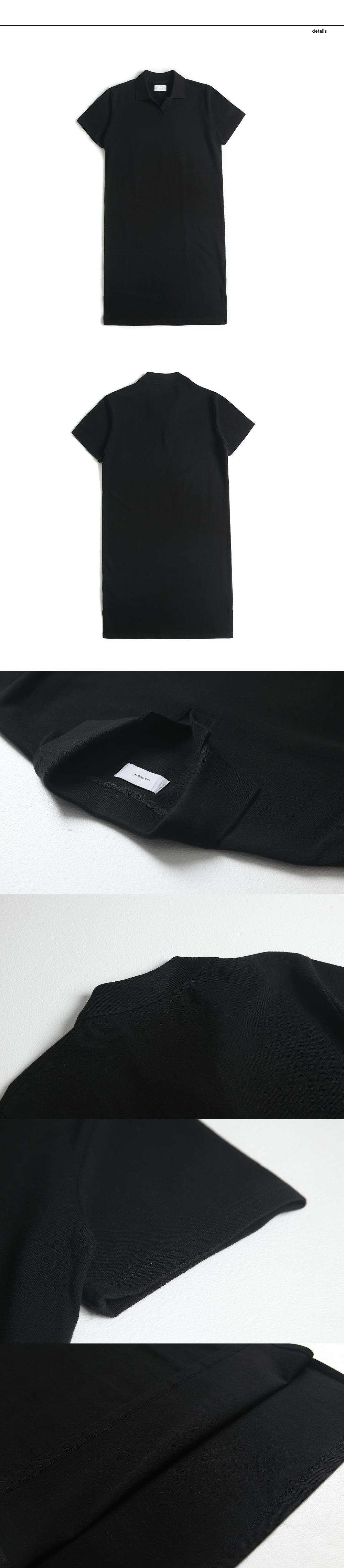 랩12(LAB12) 19S/S 오버핏 피케원피스 (블랙)